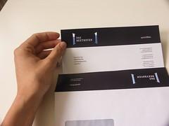 Briefpapier und Umschlag