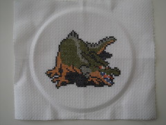Green Dragon (benjibot) Tags: crossstitch crafts videogames nes dragonwarrior