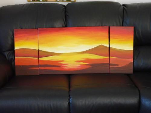 """Häufig Peinture """" paysage africain"""" - LES ROSES DE MOUNELUNA NJ25"""