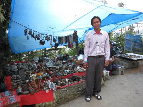 Typical Tibetan stall in McLeod Ganj, India