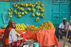 fruit sellers in Jijiga (LindsayStark) Tags: africa travel woman women markets ethiopia humanitarian humanitarianaid waraffected jijiga