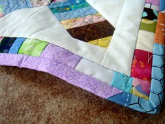 wonky doll quilt detail