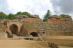 Anfiteatro Romano - 8 BC (moacirdsp) Tags: espaa bc 8 romano badajoz provincia 2008 emerita conjunto anfiteatro mrida extremadura arqueolgico avgvsta