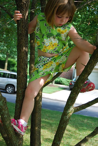 Front of outfit in a tree
