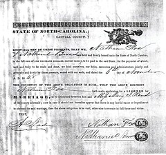 Nathaniel Fox, Mary Jane Wrenn Marriage Bond