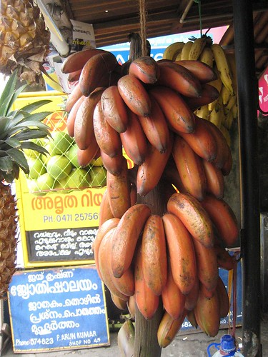 Red bananas on sale in Trivandrum