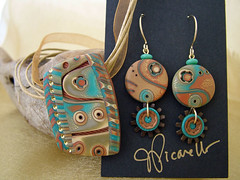 Clay ConneCTion Raffle (julie_picarello) Tags: house yellow metal julie jewelry clay bead designs polymer gane mokume picarello
