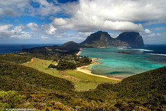 View to Lagoon and Mt Lidgbird and Mt Gower From Malabar Hill - Kims Lookout (Black Diamond Images) Tags: lordhoweisland view landscape sea lagoon sky coral reef mallabarhill kimslookout mtlidgbird australianbeaches lordhoweislandbeaches coralreef landscapes ocean mountains mountain scenery scenic blackdiamondimages bestofaustralia coralisland mtgower tourism idyllic thelastparadise paradise beautiful spectacular magicaustralia holidaydestination corallagoon unique islandlandscapes worldheritagenationalpark midnorthcoast nsw australia bdi nswnationalparks