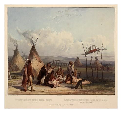 0044r- Incineracion funeraria de un jefe Sioux