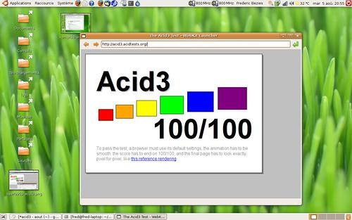Score parfait de webkit sous acid3