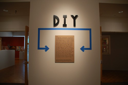 DIY statement in the gallery