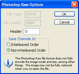 photoshop raw save options