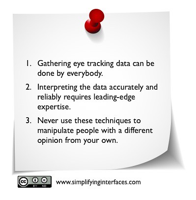 Simplifyinginterfaces-Keypoints:Eyetracking : tool to convince or expert tool?