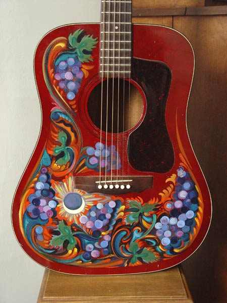 art gallery guitar painted
