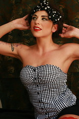 Kathy(2) (brittanyl81) Tags: girl makeup tattoos kathy redlipstick pinup allyson