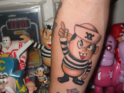 Re: First Tattoo Ideas? Yuck!!! wrote: Get your favorite toy as a tat,
