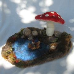 Gnome hang out (haddy2dogs) Tags: kids felted natural etsy nfest haddy2dogs