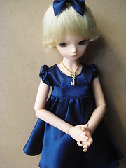 new dress (monako075) Tags: girl doll dress handmade olive bjd tf bluefairy tinyfairy