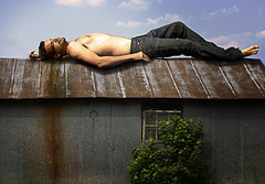 Aaron Nace was here (aknacer) Tags: sky man window barn relax bush pants weekend aaron enjoy chill nace strobist aknacer goldenheartaward aaronnace
