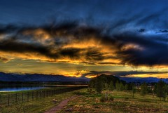 Sunset (Thad Roan - Bridgepix) Tags: sunset colorado denver littleton grantranch 200808 blueheronsanctuary isthmuspark