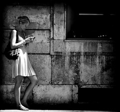 standing at the wall (juliusfrumble) Tags: street shadow girl walking nikon alone candid artlegacy photoartbloggroup cecking
