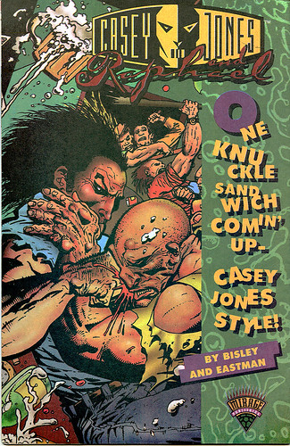 "CBS Presents: Action Zone #1 - ""Casey Jones & Raphael""   [[ Playmates Toys / Kmart Exclusive Promo Comic ]] (( 1994 ))"
