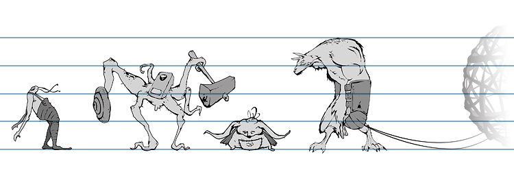 character design concept lineup