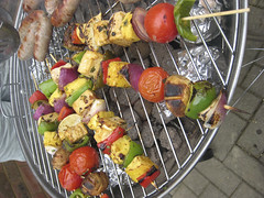 Veggie Kebabs with Tofu and Pineapple
