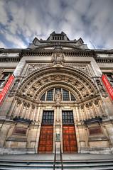 Victoria & Albert Museum, London (5ERG10) Tags: sky london sergio museum architecture clouds nikon angle albert perspective entrance victoria va architettura d300 3xp sigma1020 impressedbeauty amiti 5erg10 sergioamiti