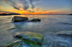 Ølberg sunset (Per Erik Sviland) Tags: sunset sea rock nikon sigma erik 1020mm per hdr d300 pererik ndx8 9exp sviland sqbbe pereriksviland