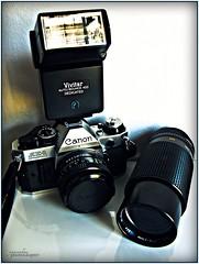 Canon AE-1 Program SLR (youneverknowphotography) Tags: camera black slr film darkroom canon silver lens photography shadows ae1 flash class powershot equipment adobe mounted program lightroom g7