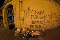 Vomiting Elephant (Austin King) Tags: street urban elephant trash chinatown grafitti malaysia kualalumpur malay rm denda jangan sampah buangan janganbuangansampahdenda