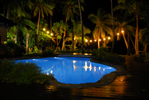 Pool at the Beachhouse, by Night