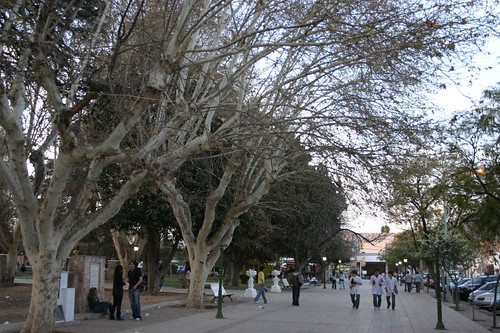 Chilecito's main square.
