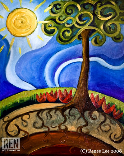 "Happy Earth"" Oil Painting by Renee Lee 