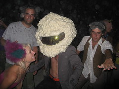 But No! He Came to Dance With US!!!! (radzephyr) Tags: city party man black art car rock temple march nevada dream 4th burningman blackrockcity burning camel forth american brc basura albino vehicle dust fourth 2008 sagrada march4th marchfourth