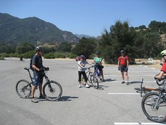 Mark explains the finer points of mountain biking. (09/14/2008)