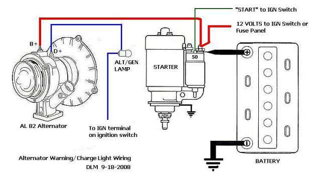 basic charging system trouble shooting shoptalkforums com vw beetle generator light stays on at Gen Light Wiring