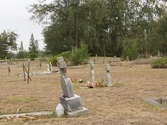 Kahuku Cemetery (Is That A Ghost?...) (Maka Koa/Naria) Tags: cemetery graveyard hawaii oahu north spirits shore ghosts kahuku aumakua kahukucemetery