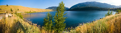 Lake Wallowa Panorama (absencesix) Tags: travel panorama plants usa lake nature grass oregon joseph iso100 unitedstates july noflash northamerica 1020mm 2008 locations locale 10mm manualmode canoneos30d camera:make=canon exif:make=canon exif:iso_speed=100 geo:state=oregon july282008 hasmetastyletag lakewallowastatepark naturallocale summer2008travel hellscanyon0727292008 lakewallowastatepark07282008 selfrating4stars exif:focal_length=10mm josephoregonusa 1125secatf11 geo:countrys=usa exif:lens=100200mm exif:model=canoneos30d camera:model=canoneos30d exif:aperture=ƒ11 subjectdistanceunknown geo:city=joseph