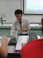 Mr Low's tutorial in lecture hall