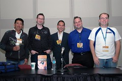 Ken Iyadomi, Christopher Macdonald, Roland Kelts, Kevin McKeever, and Adam Sheehan