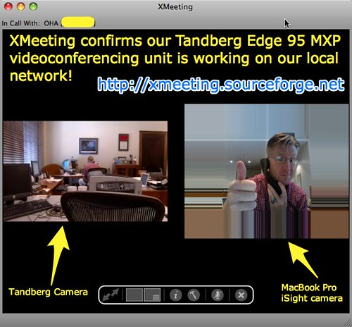 XMeeting confirms our Tandberg is working!