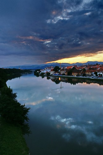 """Maribor:Sunset at Old Harbour (Lent) and Drava River • <a style=""""font-size:0.8em;"""" href=""""http://www.flickr.com/photos/26679841@N00/2915223207/"""" target=""""_blank"""">View on Flickr</a>"""