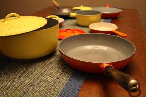 my vintage cast iron enamelware