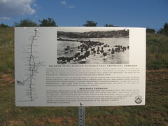 Chisholm trail Corridor Marker - Crossing the Red River