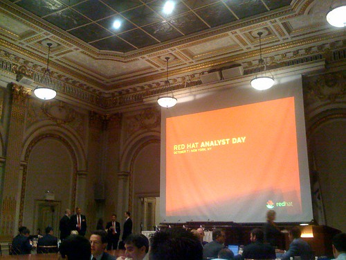 red hat analyst day @ NYSE boardroom