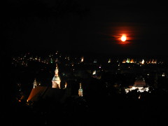 2007 07 01 - 0588 - Graz - View from Schlossberg (thisisbossi) Tags: moon night austria sterreich graz moonillusion
