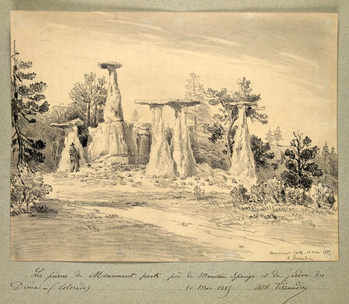007- Piedars del Monument Park cerca de Mountain Spring Colorado 1885