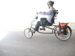 Derrek on the EZ-Sport recumbent